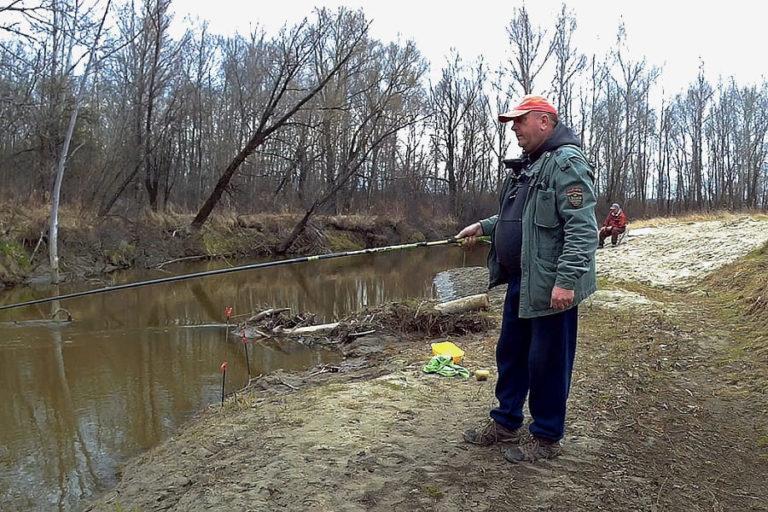Первый выход на рыбалку.